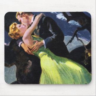 Vintage Love and Romance, Romantic Kiss Mouse Pad