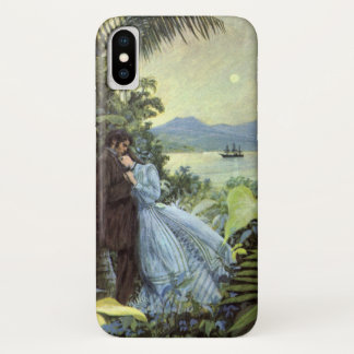 Vintage Love and Romance, Romantic Tropical View iPhone X Case