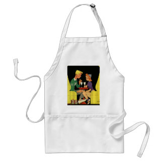 Vintage Love and Romance, Teens at the Soda Shop Adult Apron