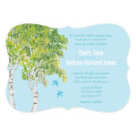 "Vintage Love Bird Birch Tree Wedding Invitations 5"" X 7"" Invitation Card"
