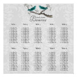 Vintage Love Bird Seating Chart click customize Poster