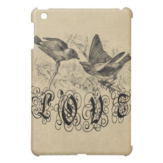 Vintage Love Birds Apparel and Gifts Cover For The iPad Mini