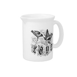 Vintage Love Birds Apparel and Gifts Pitchers