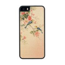 Vintage Love Birds | blush pink white Maple iPhone 5 Case