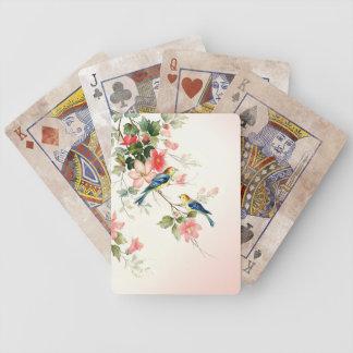 Vintage Love Birds | blush pink white Playing Cards