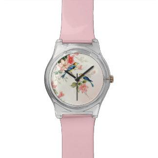 Vintage Love Birds Favor | blush pink white Wristwatches