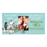 Vintage Love Birds Save the Date  Your Photo Picture Card