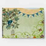 Vintage Love Birds Wedding  Envelopes