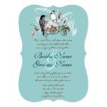 "Vintage Love Birds Wedding Invitation 5"" X 7"" Invitation Card"