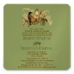 Vintage Love Birds Wedding Invitation Silver Notes