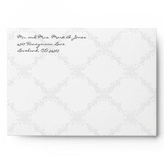Vintage Love Birds White Flower Branch Envelopes envelope