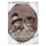Vintage Love Cats Card