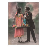 Vintage love couple greeting cards