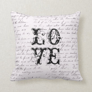 Vintage Love Distressed Pillow