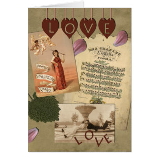 Vintage Love Greeting Card