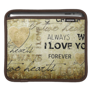 vintage love heart art sleeve for iPads