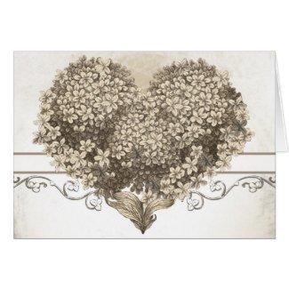 vintage love heart card