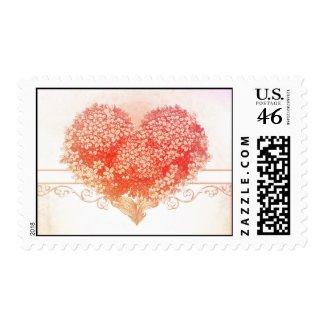 vintage love heart postage stamps stamp