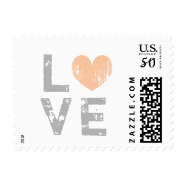 Valentines Themed Vintage love heart wedding postage stamps