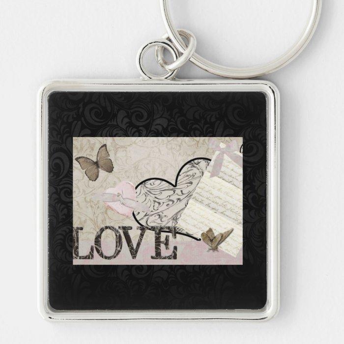 Vintage Love Keychain