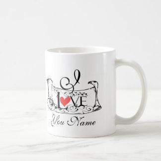 Vintage love letter coffee mug