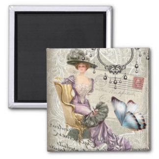 vintage love letter Vintage Paris Lady Fashion Magnet