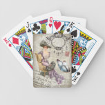 vintage love letter Vintage Paris Lady Fashion Bicycle Playing Cards
