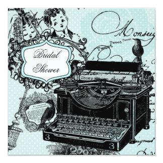 Vintage Love Letters Bridal Shower Invitation