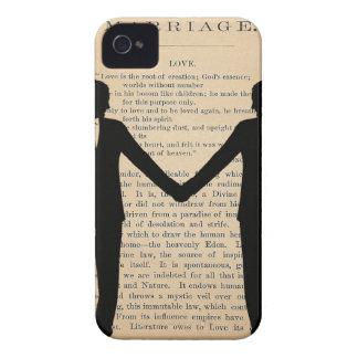 Vintage Love & Marriage Gay Wedding Longfellow Case-Mate iPhone 4 Case