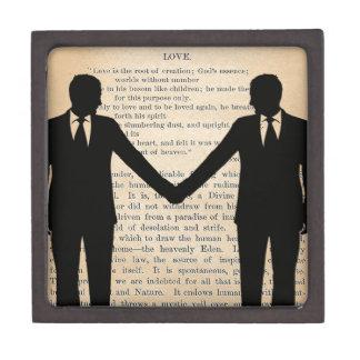 Vintage Love & Marriage Gay Wedding Longfellow Gift Box