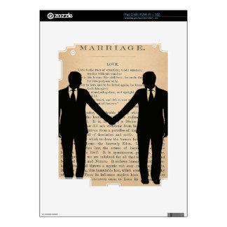 Vintage Love & Marriage Gay Wedding Longfellow iPad 2 Skins