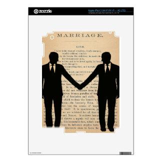 Vintage Love & Marriage Gay Wedding Longfellow iPad 3 Skins