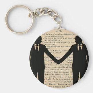 Vintage Love & Marriage Gay Wedding Longfellow Keychain
