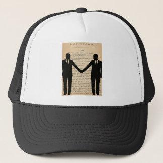 Vintage Love & Marriage Gay Wedding Longfellow Trucker Hat