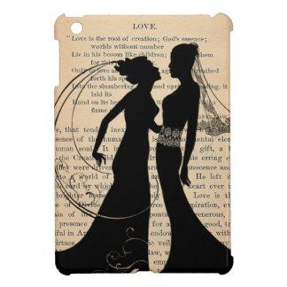 Vintage Love & Marriage Lesbian Wedding Longfellow iPad Mini Cover