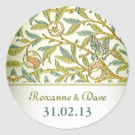 vintage love names and date wedding stickers