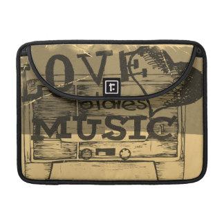 Vintage Love oldies music 2 MacBook Pro Sleeve