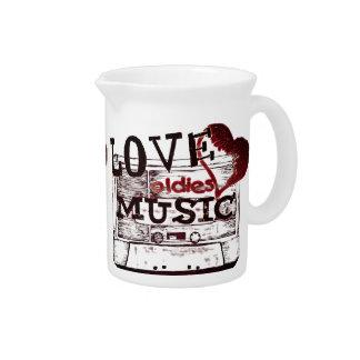 Vintage Love oldies music 2 Pitchers