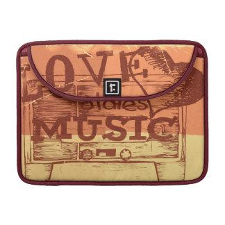 Vintage Love oldies music 3 Sleeve For MacBook Pro