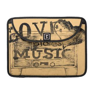Vintage Love oldies music 4 MacBook Pro Sleeve