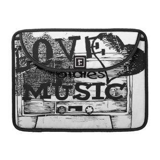 Vintage Love oldies music 5 Sleeve For MacBook Pro