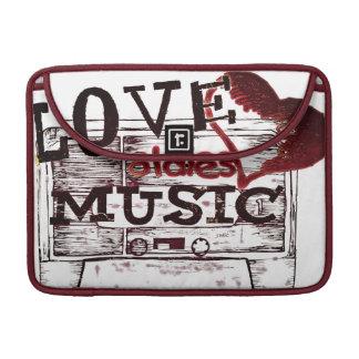 Vintage Love oldies music 6 Sleeve For MacBook Pro