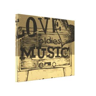 Vintage Love oldies music Canvas Canvas Print