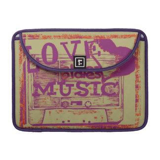 Vintage Love oldies music MacBook Pro Sleeve