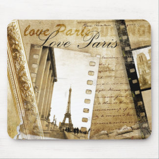 Vintage Love Paris Mouse Pad