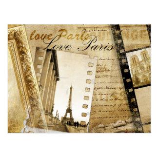Vintage Love Paris Post Card