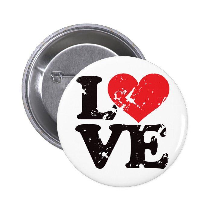 Vintage Love! Pinback Button