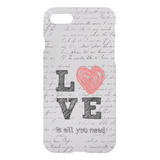 Vintage Love Quote iPhone 8/7 Case