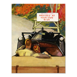 Vintage Love, Road Closed Proceed at Your Own Risk Card