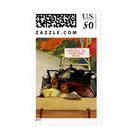 Vintage Love, Road Closed Proceed at Your Own Risk Postage